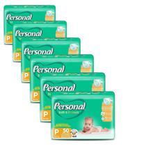 Fralda Descartável Personal Soft & Protect Mega Pequena 6 Pacotes com 50 Tiras -