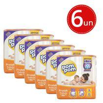 Fralda Descartável Pom Pom Protek Baby Econômica G 26 Unidades - 6 pacotes - Marca Padrão