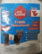 Fralda Descartável Pro Canine Macho M (cintura 33 a 53 cm) com 3 unidades - Procanine