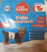 Fralda Descartável Pro Canine Macho P (cintura 22 a 33 cm) com 3 unidades - Procanine