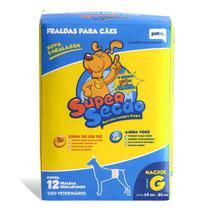Fralda Descartável Super Secão Cães Machos Tam:G -