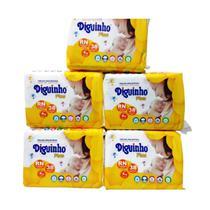 Fralda Diguinho RN recém nascido ou prematuro 5 pacotes com 38 unidades -