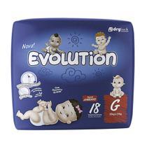Fralda Evolution Tamanho G Pacote Jumbinho 18 Fraldas Descartáveis - Dry Evolution