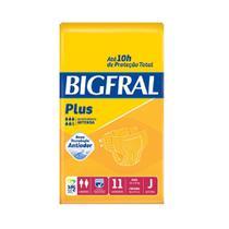 Fralda ger. bigfral plus juvenil 8 pct. c/11 cxf -