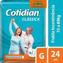 Fralda Geriátrica Adulto Cotidian Clássica G Com 24 Fraldas -