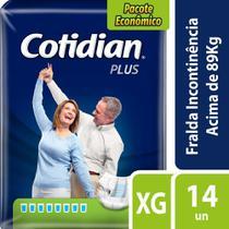 Fralda Geriátrica Adulto Cotidian Plus Xg Com 14 Fraldas -