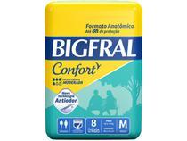 Fralda Geriátrica Bigfral Confort - Tamanho M 8 Unidades