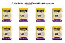 Fralda Geriátrica Bigfral Derma Plus tamanho XG- Fardo com 8 Pacotes -