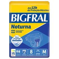 Fralda geriatrica bigfral noturna m c/8 -