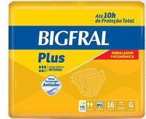Fralda geriátrica bigfral plus embalagem econômica tam. g (pct c/ 16 unds.) - bigfral - Ontex
