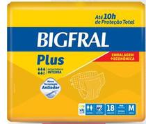 Fralda Geriátrica Bigfral Plus Embalagem Econômica Tam. M (Pct c/ 18 Unds.) - Bigfral -