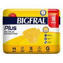Fralda Geriátrica Bigfral Plus G 16 Unidades -