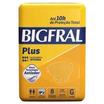 Fralda Geriátrica Bigfral Plus G 8 unidades - Hypermarcas