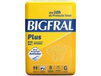 Fralda Geriatrica Bigfral Plus G - 8 Unidades -