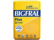 Fralda Geriatrica Bigfral Plus G - 8 Unidades