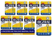 Fralda geriatrica bigfral plus m 8 pct. c/9 cxf -