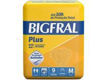 Fralda Geriátrica Bigfral Plus M - 9 Unidades -