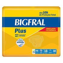 Fralda Geriátrica Bigfral Plus M Com 18 Unidades -