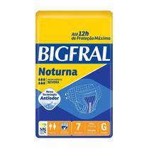 Fralda geriátrica bigfral plus noturna tamanho grande - 7 unidades - Pom pom