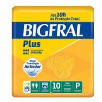 Fralda geriatrica bigfral plus p 8 pct.c/10 cxf -