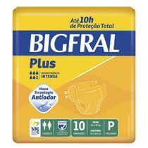 Fralda Geriátrica Bigfral Plus P Com 10 Unidades -