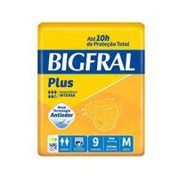 FRALDA GERIÁTRICA BIGFRAL Plus TAM  M 9  unid -