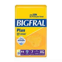 Fralda geriátrica bigfral plus tamanho extra grande - 7 unidades - Pom pom
