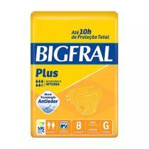 Fralda geriátrica bigfral plus tamanho grande - 8 unidades - Pom pom