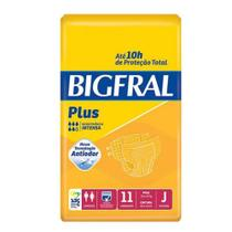 Fralda geriátrica bigfral plus tamanho j (c/11) - bigfral - Ontex