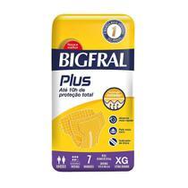 Fralda geriatrica bigfral plus xg c/ 7 -