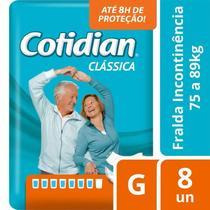 Fralda Geriátrica Cotidian Clássica G Com 8 Unidades -