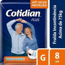 Fralda Geriátrica Cotidian Plus G Com 8 Unidades -