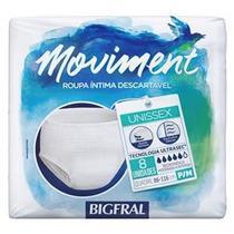 Fralda Geriátrica Moviment P/M com 8 - Bigfral