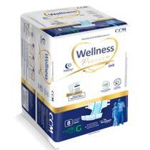 Fralda Geriátrica Wellness Premium Unissex Descartável Tamanho G 8 Unidades -