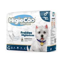 Fralda HigieCão Eles para Cães com 12 Unidades - Tamanho G -