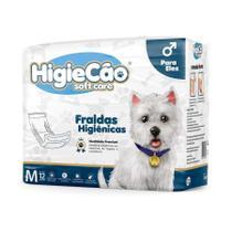 Fralda HigieCão Eles para Cães com 12 Unidades - Tamanho M -