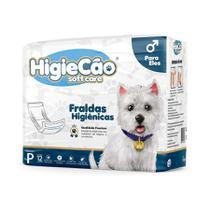 Fralda HigieCão Eles para Cães com 12 Unidades - Tamanho P -