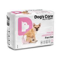 Fralda higiênica descartável Fêmea pacote com 12 unidades Tamanho - M - Dogs Care