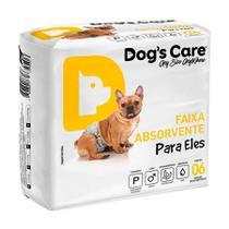 Fralda Higiênica Dogs Care Cães Machos 6 Unidades - Tamanho P - Dog'S Care