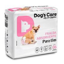 Fralda Higiênica M Para Femeas Dogs Care C/6 Unidades -