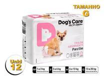 Fralda Higiênica P/cães Fêmeas - Dog's Care Tam G - 12 Unid -