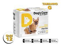 Fralda Higiênica P/cães Machos - Dog's Care Tam G - 12 Unid -