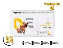 Fralda Higiênica P/cães Machos - Dog's Care Tam G - 24 Unid -