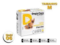 Fralda Higiênica P/cães Machos - Dog's Care Tam M - 06 Unid -