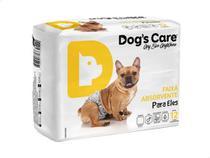Fralda Higiênica P/cães Machos - Dog's Care Tam P - 12 Unid -