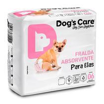 Fralda Higienica P Para Femeas Dogs Care C/6 Unidades -