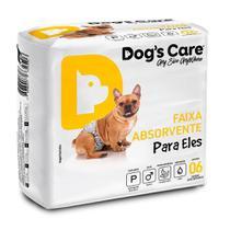Fralda Higienica P Para Macho Dogs Care C/6 Unidades -