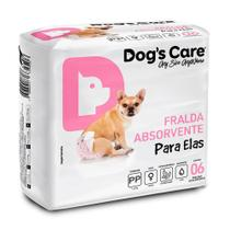 Fralda Higienica Pp Para Femeas Dogs Care C/6 Unidades -