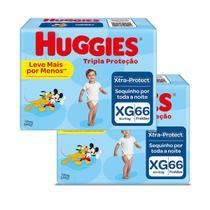 Fralda Huggies Disney Tripla Proteção XG 132 Unidades -
