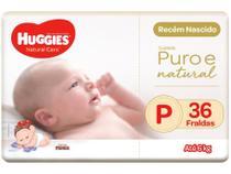 Fralda Huggies Premium Puro e Natural - Tam. P 0 a 6kg 36 Unidades